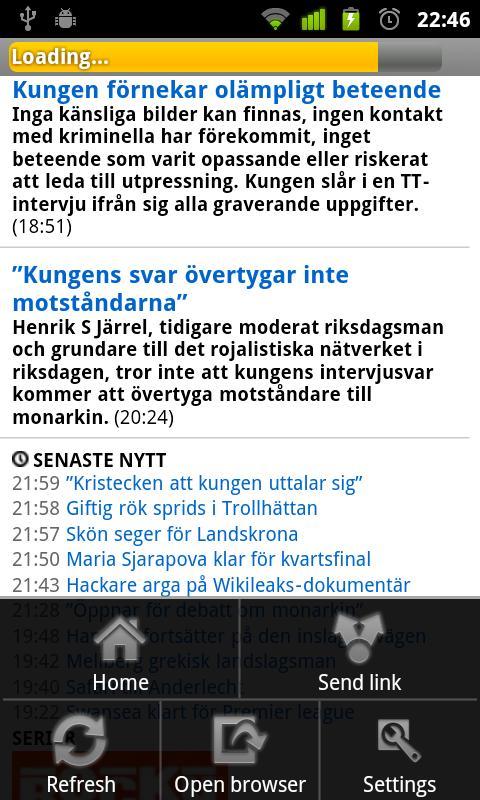 Svenska Tidningar- screenshot