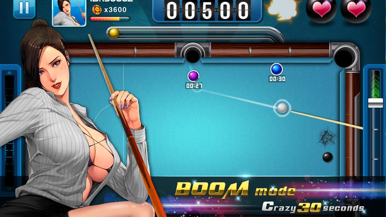 playing pool online with women