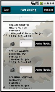 Equipment Parts Diagrams - screenshot thumbnail