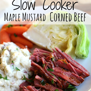 Slow Cooker Maple Mustard Corned Beef.