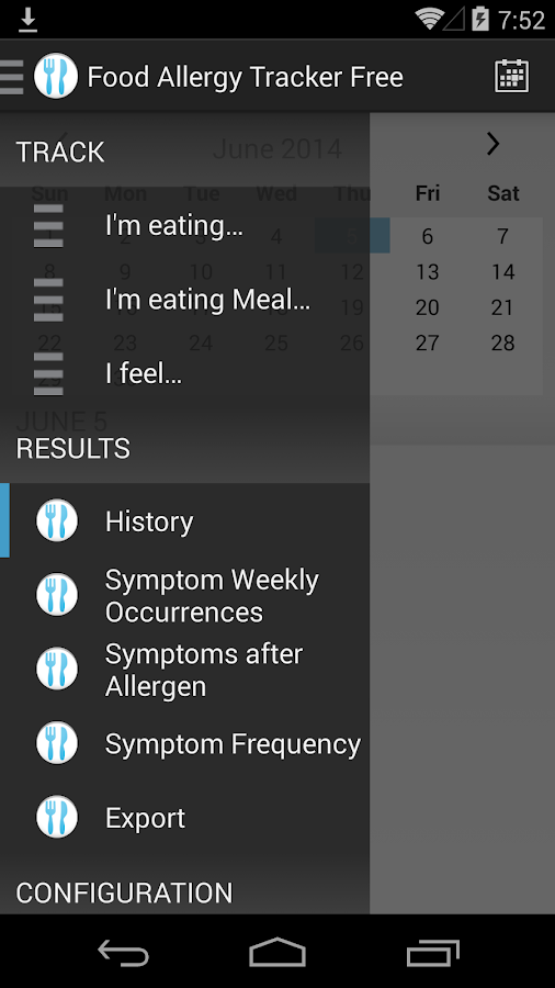 Food Allergy Tracker Free- screenshot