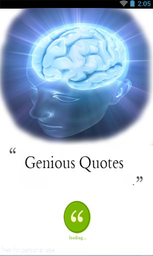 Genious Quotes - Quotations