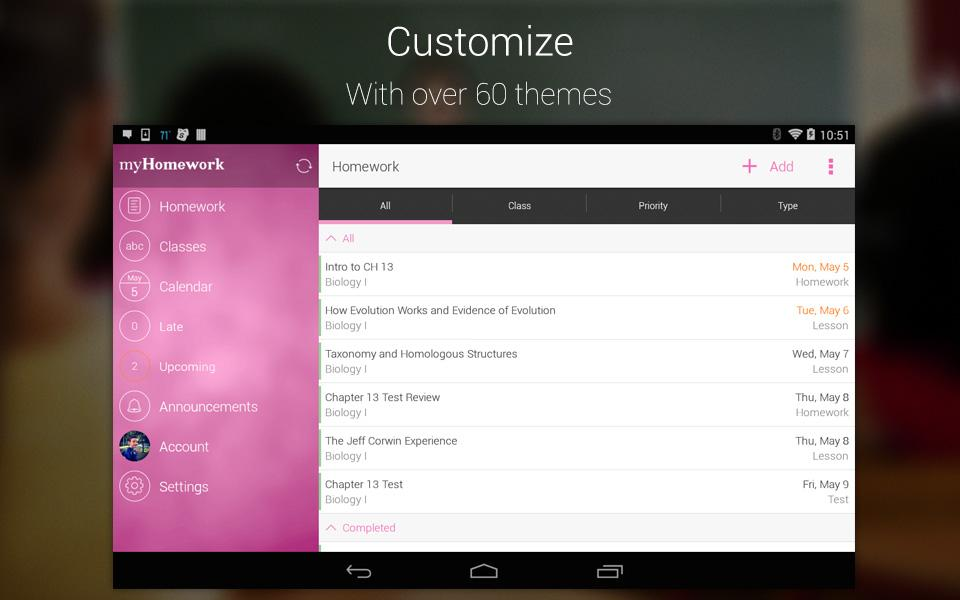 myHomework Student Planner- screenshot