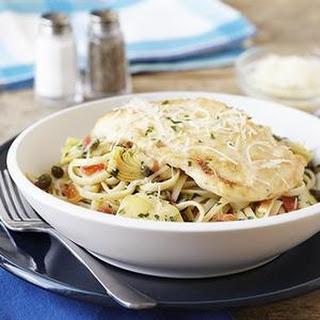 Parmesan Chicken & Artichoke Linguine