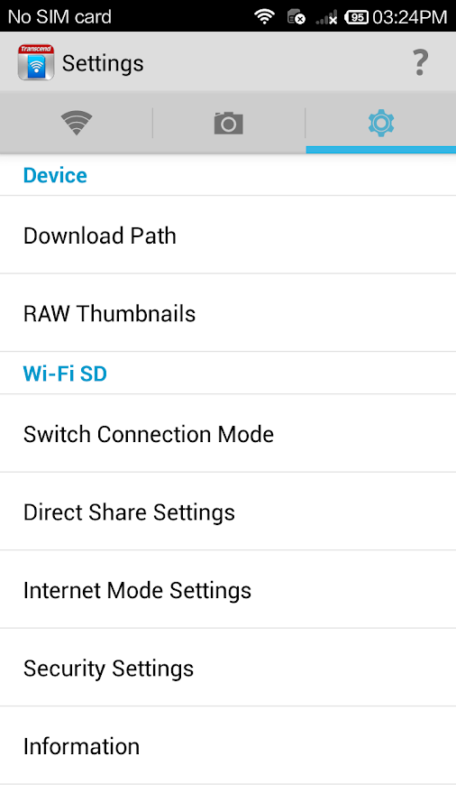 Wi-Fi SD- screenshot