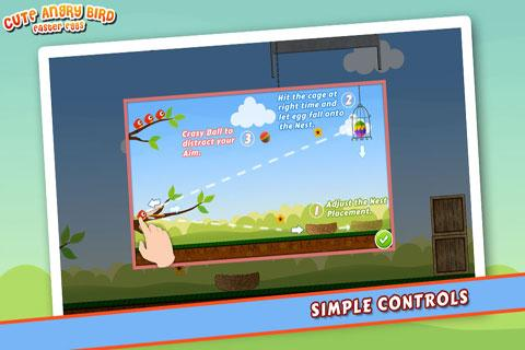 Cute Angry Bird : Eggs- screenshot