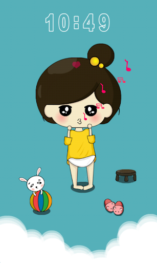 Cute Girl Miss.Xi Locker Theme