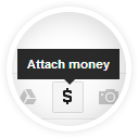 Attach money