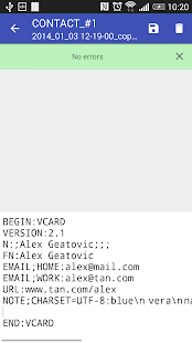 Contacts VCF- screenshot thumbnail