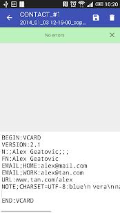 Contacts VCF- screenshot thumbnail