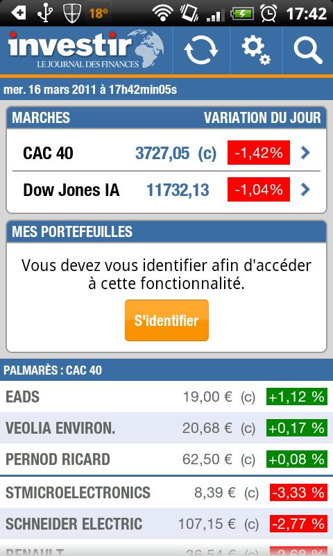 Investir - screenshot