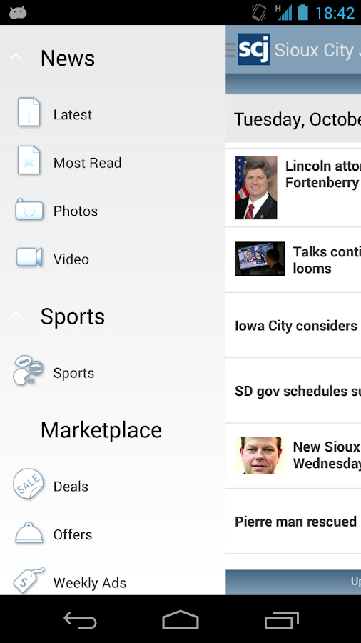 Sioux City Journal - screenshot