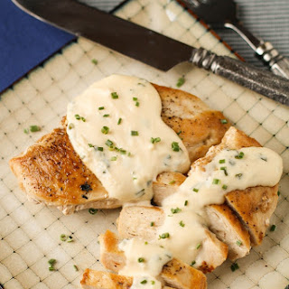 Chicken with Feta Cheese Sauce.