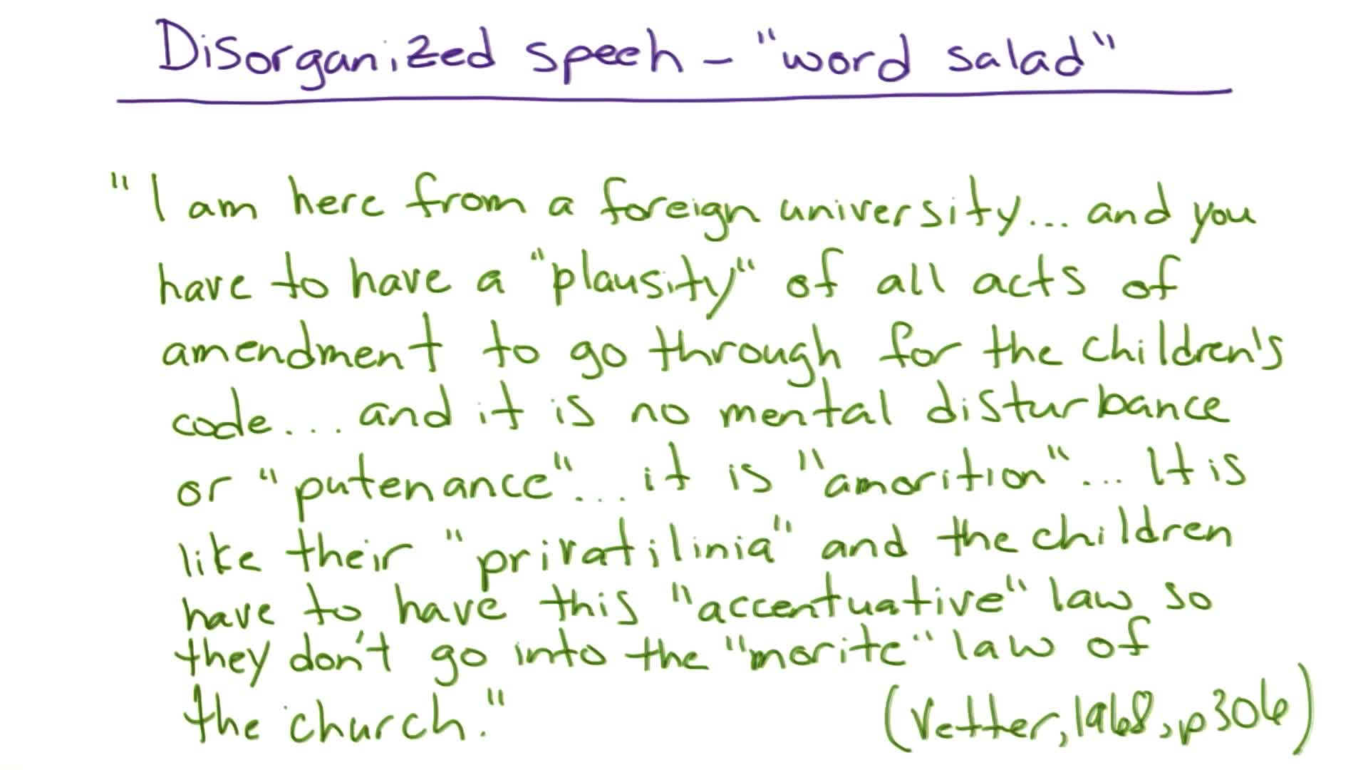 Disorganized Speech Udacity