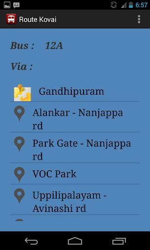 【免費交通運輸App】Route Kovai-APP點子