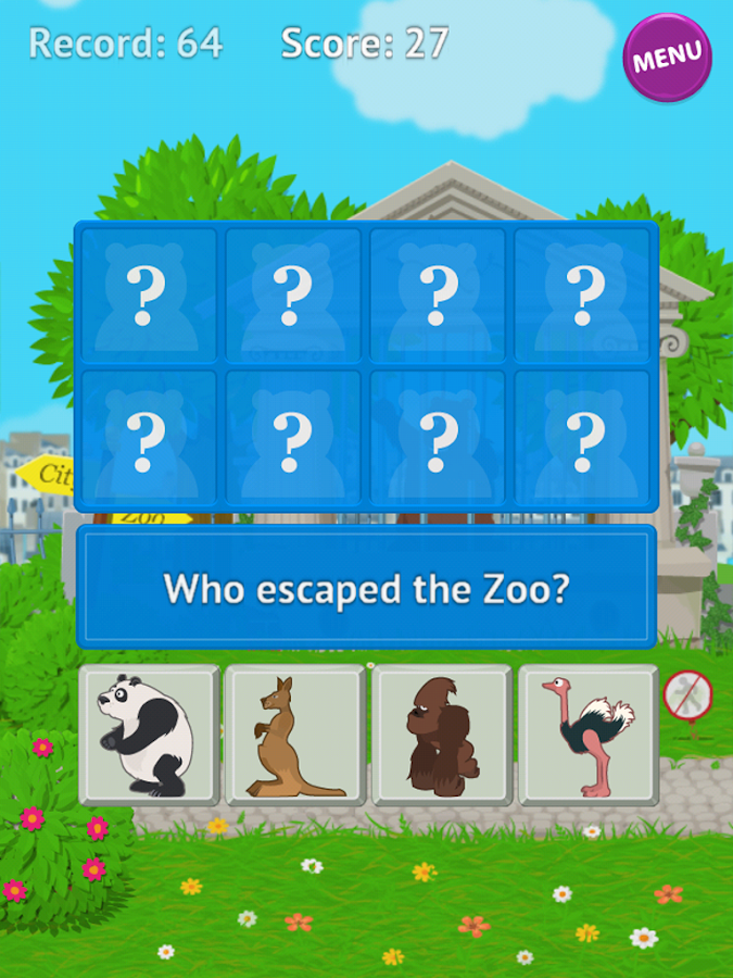 Who Escape Zoo - Android Wear- screenshot