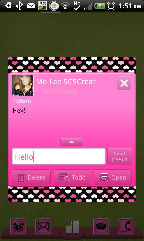 GO SMS - Hearts Forever- screenshot