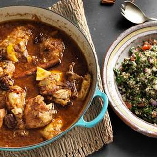 Chicken And Lemon Tagine With Herby Tabbouleh