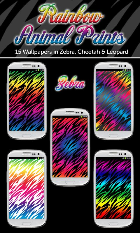 rainbow animal print wallpaper screenshot