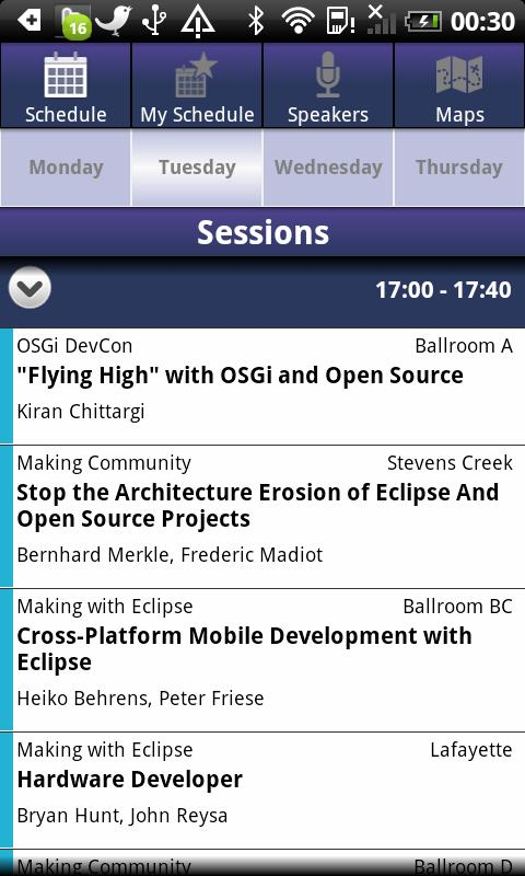 EclipseCon 2011 - screenshot