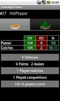 Screenshot of Ultim'App Frisbee