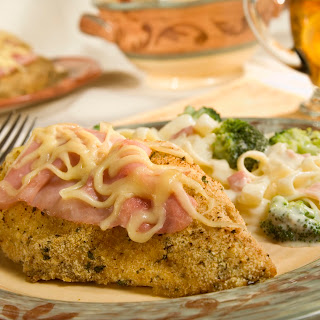 Crunchy Chicken Cordon Bleu.