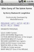 Screenshot of Works of Henry Longfellow