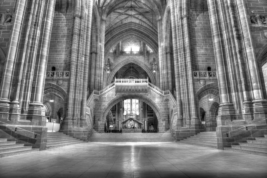 View of the Bridge in Liverpool Anglican Cathedral by Graham Peel - Buildings & Architecture Places of Worship