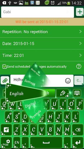 玩娛樂App|GO SMS Proのグリーンスター免費|APP試玩