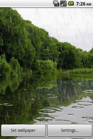 3D Rain Waterfall LWP