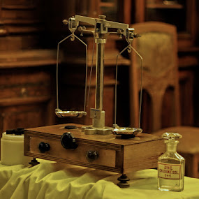 Historic Pharmacy Scale by Ciddi Biri - Artistic Objects Healthcare Objects ( scale, pwc, pwc93 )