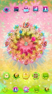 玩個人化App|Beautiful Fiesta Clock Widget免費|APP試玩