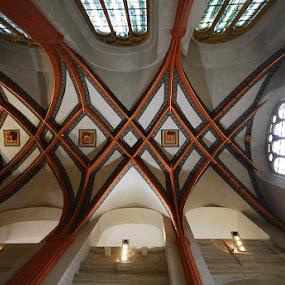 Vaults of synagogue by Sámuel Zalányi - Buildings & Architecture Architectural Detail ( republic, jewish, vaults, chech, district, prague, , Architecture, Ceilings, Ceiling, Buildings, Building )