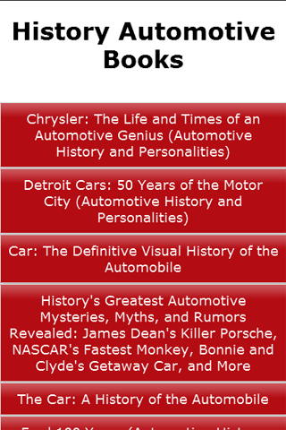 History Automotive Books