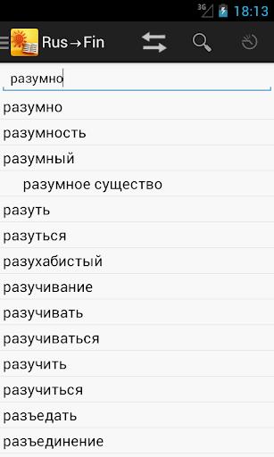 RussianFinnish Dictionary