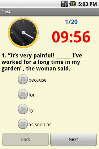 EnglishTest - screenshot
