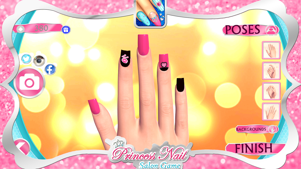 Princess nail salon game android apps on google play for A nail salon game