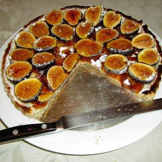 Caramelized Fig Tart with Raspberries.