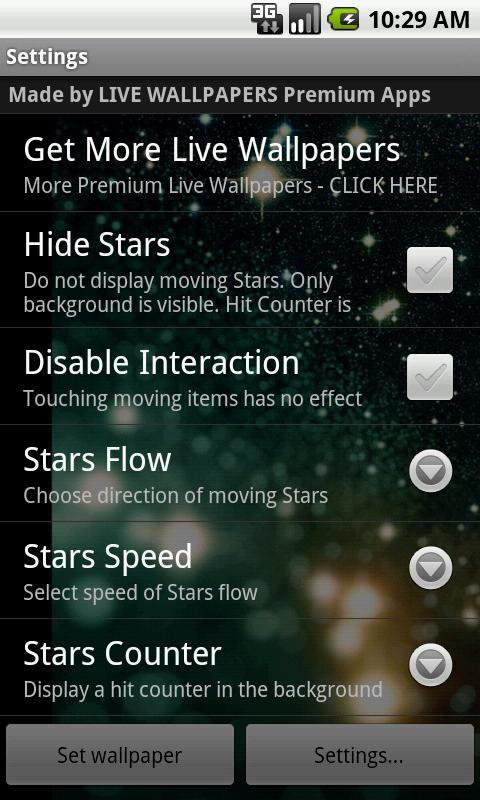 Magic Stars Live Wallpaper- screenshot