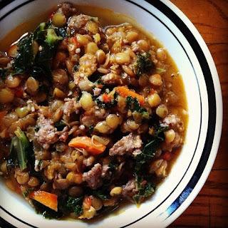 Hearty Sausage & Kale Lentil Soup