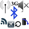 Wifi Bluetooth GPS Brightness icon
