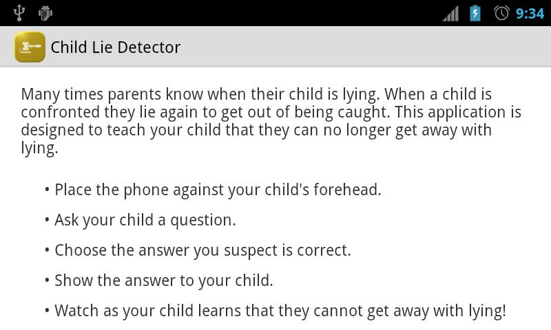 Child Lie Detector - screenshot