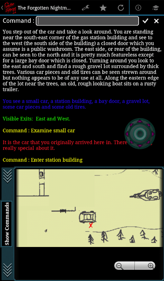 TFN 2 - Text Adventure Game- screenshot