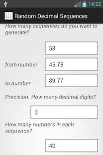 generate random numbers free android apps on play