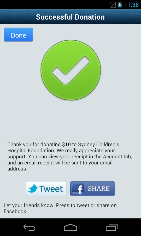 GiveEasy - donate to charities- screenshot