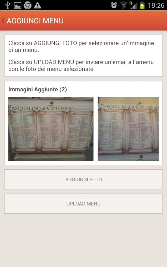 Famenu - Restaurants - screenshot