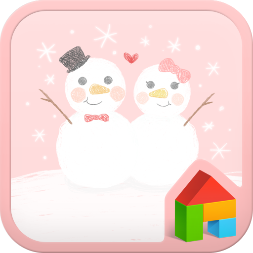 snowman couple dodol launcher LOGO-APP點子