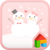 snowman couple dodol launcher