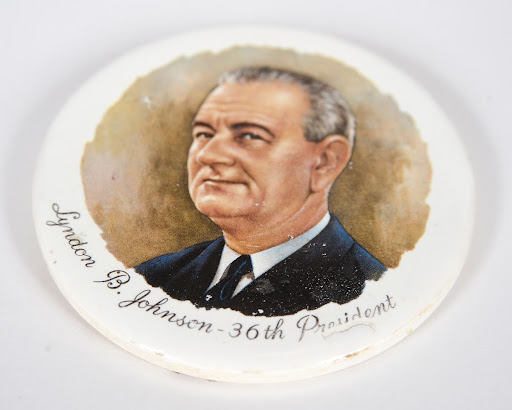 Lyndon B. Johnson Ceramic Portrait