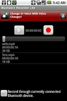 Screenshot of Bluetooth Recorder Lite